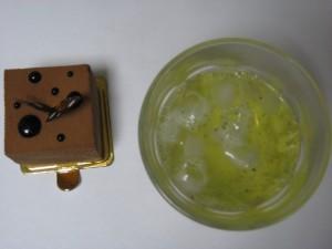 チョコキューブwith冷茶